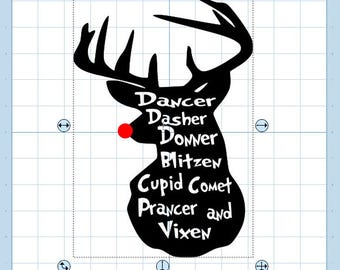 Reindeer names svg