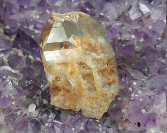 Garden Quartz Point - Lodolite Quartz - Lodolite Point - Scenic Quartz - Included Quartz - Raw Crystals - Healing Crystals and Stones