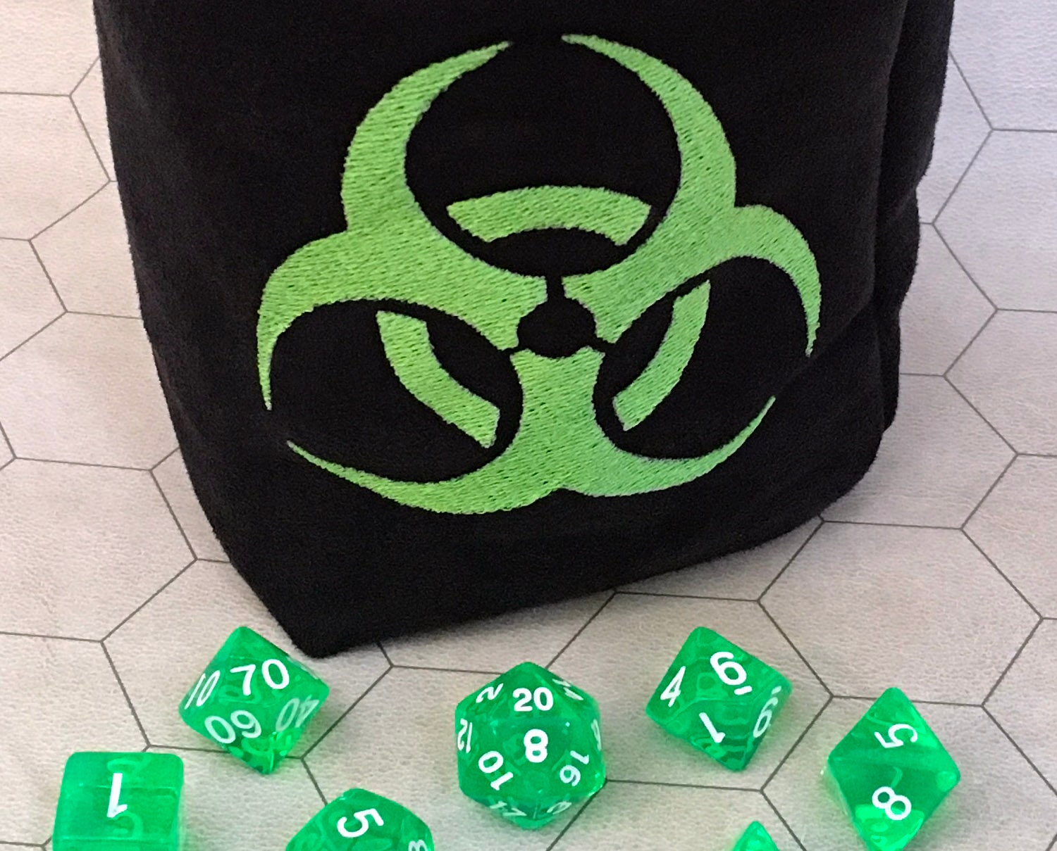Biohazard symbol embroidered large gaming bag biocorpaavc Images