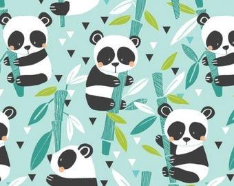 Panda-Rama - Bamboo Blue by Maude Asbury for Blend Fabrics - 1 yd