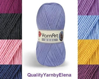 Wool yarn, 100 gram 340 m (372  yards), wool yarnart, Yarn wool, Yarnart, yarn for knitting