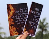 Quoted Bookmarks from An Ember In The Ashes series