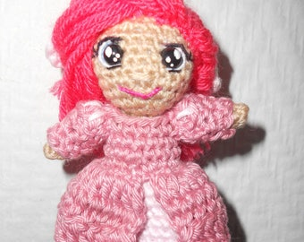 Keychain: small Chibi Ariel the Little Mermaid (disney) crochet
