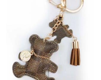 LV Luxury Bear Keychain