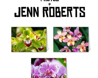 Orchid Card Pack - Blank Cards