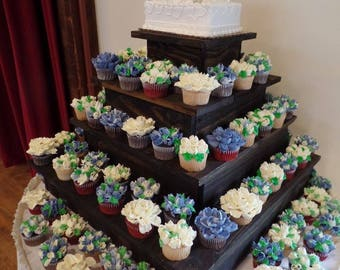 Tiered cupcake stand/ wooden cupcake stand