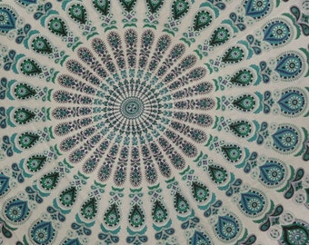 Blue Indian Mandala tapesrty, Bohemian wall tapestry, Butterfly background hippie tapestry, Psychedelic wall tapestry, Mandala bedding