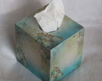 Blue Ballerina Tissue Box Cover