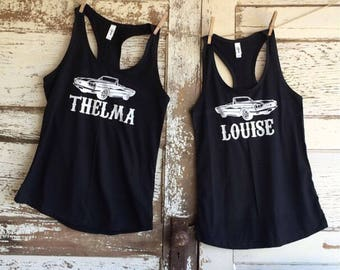 Thelma and Louise Best Friends Thunderbird matching tanks