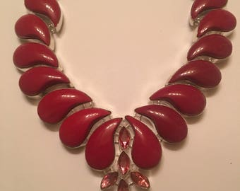 800ct Italian Red Coral Princess Necklace