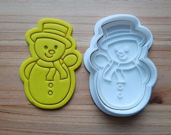 Snowman Boy Cookie Cutter and Stamp