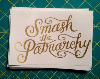 Gold Smash the Patriarchy Vinyl Decal