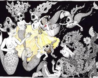 daisy retreats to the deep sanctuary of mermaids