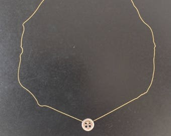 2 tone gold and silver necklace