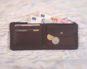 Leather Wallet. Handmade leather wallet. portafoglio in pelle.