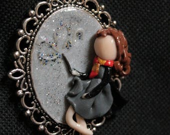 Hermione Granger - Harry Potter - polymer clay pendant necklace