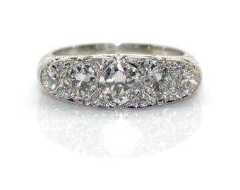 Garter diamonds ring