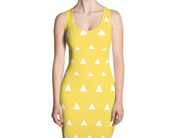 Yellow and white Sublimation Cut & Sew Dress
