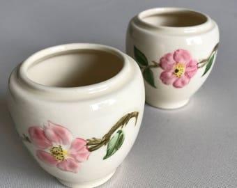 Pair of Franciscan Desert Rose Jelly Jars--U.S.A.