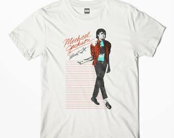 Michael Jackson Billie Jean White Vintage Look T-Shirt - S M L XL