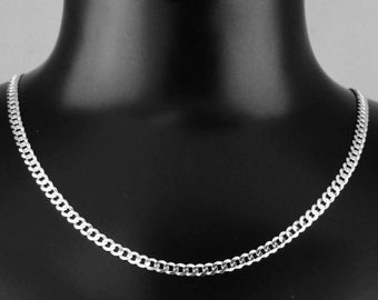 "925 Sterling Silver 16"" 4mm Curb Link Chain"