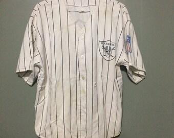 Vintage Los Angeles Raiders Baseball Jersey Large