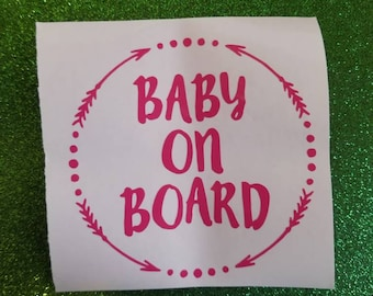 Baby On Board Car Decal