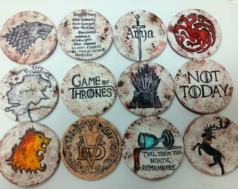 Game of Thrones 12 psc handmade Edible topper cupcake