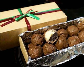 20 pcs Chocolate Truffles White&Dark, 250g, Wedding Favors, Holiday Gifts, bomboniere, birthday, handmade, artisan truffle, homemade
