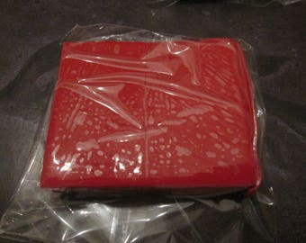 block of 50 g of polymer clay / Fimo Red