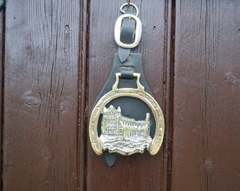 Antique Horse Brass on Leather Martingale Whitby Abbey