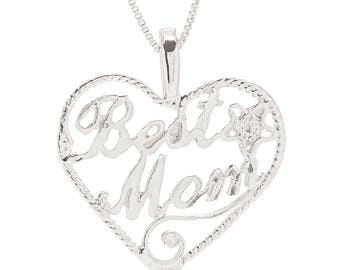 Best Mom Sterling silver neckalce