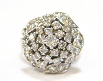 18K WG Diamond Dome Ring - X4063