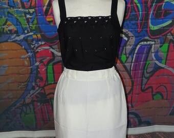Vintage white pencil skirt, white work skirt, summer/holiday skirt