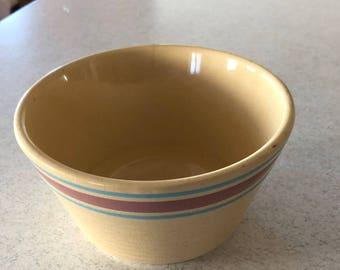 Vintage Watt Oven Ware #6 Ribbed Mixing Bowl