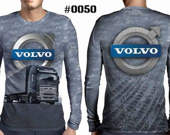 New ultramodern 3D  High Quality  Mens  Long Sleeve Black T-shirt Truck VOLVO