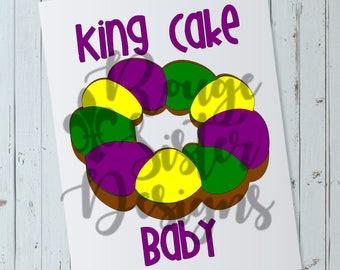 King Cake Baby Mardi Gras SVG File