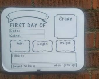 1st day of school dry erase board