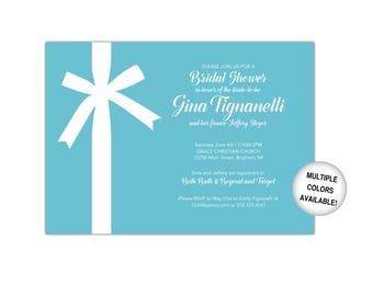 Tiffany Blue Bridal Shower Invitation | Bridal Shower Invitation Template | Printable Bridal Shower Invitation Tiffany Blue