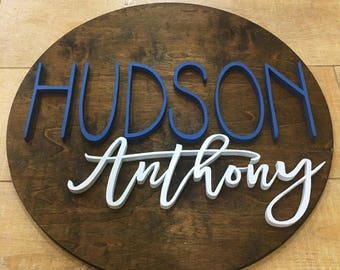 """22"""" Diameter Name Sign 