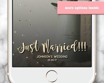 Snapchat Filter - Wedding Snapchat Filter - Custom Snapchat Filter - Wedding snap chat filter - Wedding Geofilter - Gold Confetti - Sparkles