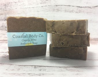 Wine Soap, Cherry Soap, Homemade Soap, Florida Soap, Women Soap, Brown Soap, Gift For Her, All Natural Soap, Cold Process Soap, Fun Soap