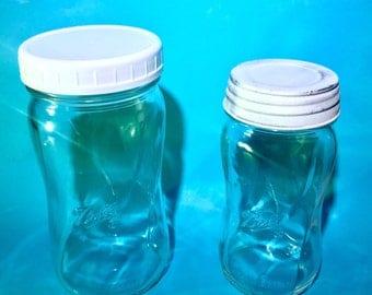 New Ball Collection Elite Wide Mouth Spiral Mason Jar | 16 oz, Pint / 28 oz | Customize Your Lid! | Rustic Farmhouse Decor & Kitchen Storage