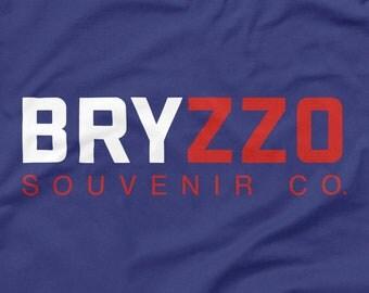 Chicago Cubs Shirt BRYZZO Souvenir Co. Blue Size S M L XL 2XL 3XL Kris Bryant Anthony Rizzo 2016 World Series Champs Wrigley Field Tank Top