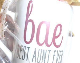 Personalized mug, bae mug, best aunt ever, best aunt ever mug, gift for her, auntie gift, aunt gift, mug, unique mug