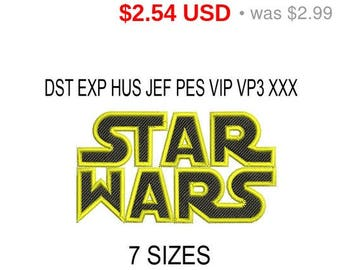 TODAY SALE 15% Star Wars embroidery design / embroidery designs / INSTANT download machine embroidery pattern