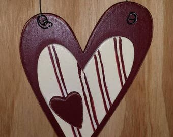 Triple heart ornament