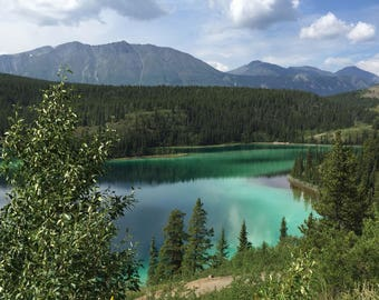 Emerald Lake Canada with/without telephone pole digital file 300 ppi 12 x 20 inches