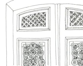 Door in Paris Print 8x10