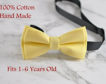 Boy Kids Baby 100% Cotton Baby Yellow Bow Tie Bowtie Party Wedding 1-6 Years Old